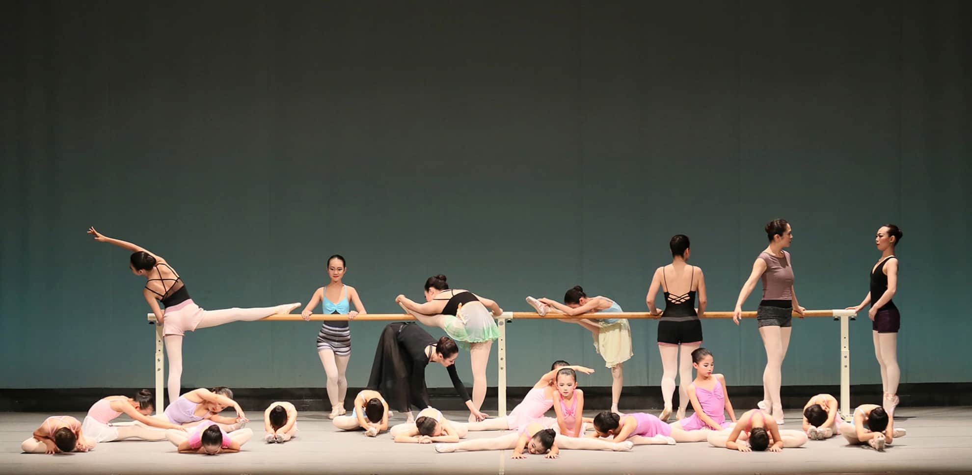 miki ballet academy students on stage